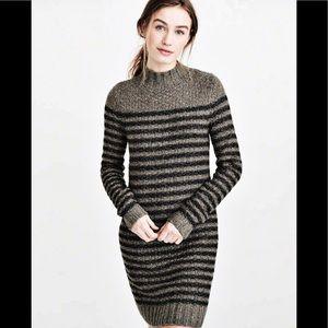 Abercrombie&Fitch Striped Mock Neck Sweater Dress